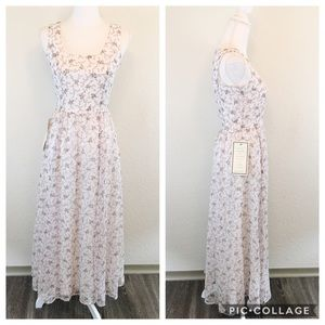 Laura Ashley | Vintage Pink Floral Prairie Dress